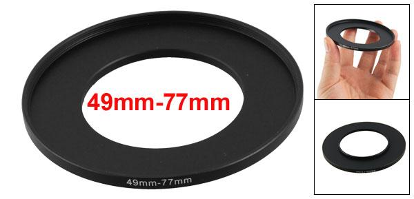 Camera Lens Filter Step Down Ring 49mm-77mm Adapter Black