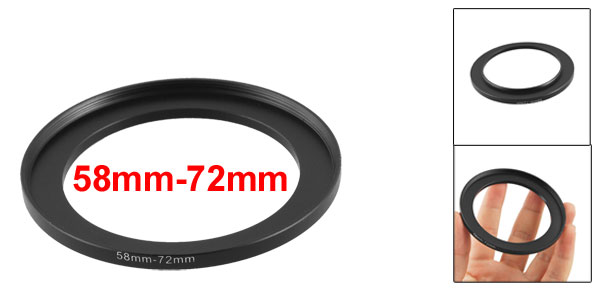 Camera Repairing 58mm to 72mm Metal Step Up Filter Ring Adapter