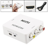 HDMI to Composite RCA CVBS Video + Audio Mini Converter for TV