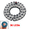 Security Camera 30 Degree Red 8mm 36-LED Infrared IR Board Plate