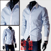 Mens NEW Trendy Light Blue Casual Single...