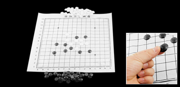 White Black Ceramic Stone Weiqi Chinese Board Chess Game w Case