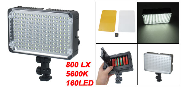 Aputure Amaran AL 160 Battery Powered 160 LEDs Video Light w Filters
