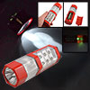 Hiking 2-LED 4-LED 6-LED 3 Modes Red Clear Plastic Flashlight Tor...