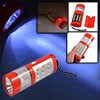 Red Plastic Shell Batteries Powered 3 Modes 14 LEDs Buld Flashlig...