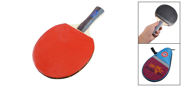 Recreational Single Table Tennis Racket Ping Pong Paddle w Case