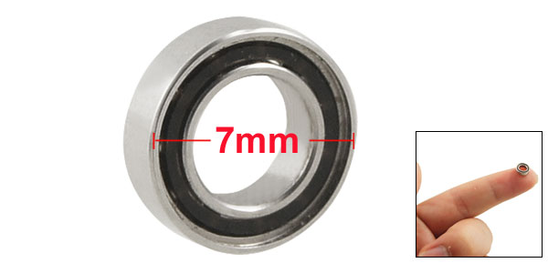 Silver Tone Metal 7mm x 4mm x 2.5mm Shield Ball Bearing