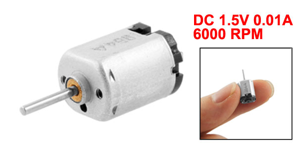 1.1mm Dia Shaft Electronic Toy Mini Gear Motor 0.01A 1.5V DC 6000 RPM