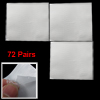 72 Pairs Make Up Adhesive Invisible Double Eyelid Sticker for Gir...