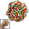 Multicolor Cotton Strand Cord Woven Knot Dog Rope Ball Toy