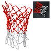 43cm 2 Pcs White Red Nylon Thread 12 Loop Basketball Replacement Net