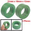 "2 Pcs 0.2"" Outside Dia Magnetism Ferrite Ring Core Green"