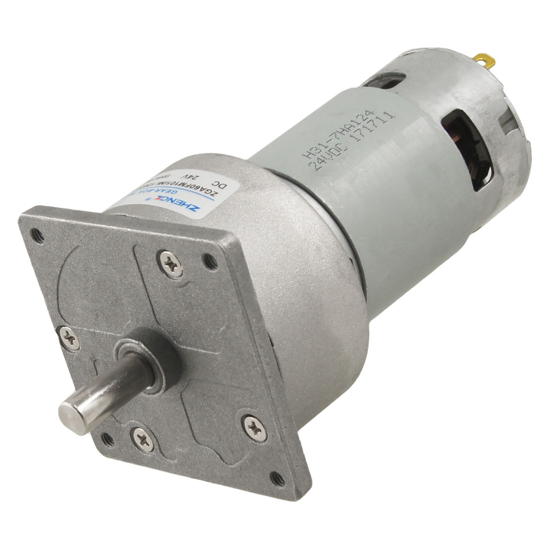 46RPM-Output-Speed-ZDA60FM-8mm-Diameter-24V-DC-Geared-Motor
