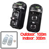 Outdoor 100m indoor 300m Double Beam Security Active IR Detector ...