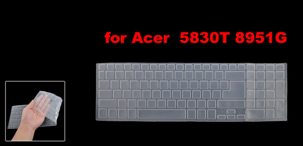 Clear White Silicone Keyboard Protective Cover Film for Acer 5830T 8951G