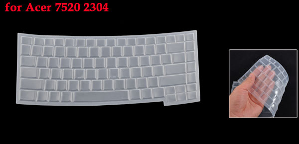 Clear White Silicone Keyboard Protective Cover Film for Acer 7520 2304