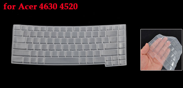 Clear White Silicone Keyboard Protective Cover Film for Acer 4630 4520