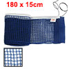 Deep Blue Nylon Table Tennis Ping Pong Net Set Organizer w Pull String