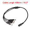 CCTV Camera DC 5.5x2.1mm 1 Female to 4 Male Plug Power Cable Conn...