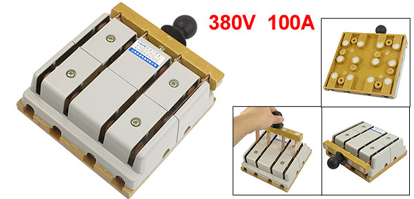 380V 100A 4 Pole DoubleThrow Electric Brake Safety Closing Switch