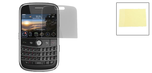 Black Plastic Screen Guard Film for Blackberry Bold 9000