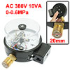 "AC 380V 10VA PT 1/2"" Thread Electric Contact Pressure Gauge 0-0.6..."