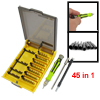 Green Handle w 42pcs Slotted Phillips Screwdriver Bits + 2 Length...