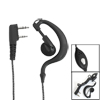 Black 2.5mm 3.5mm Plug Ear Hook Headphone Earphone Microphone