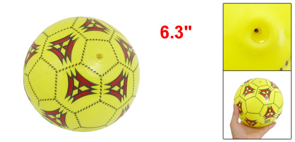 Yellow Black Red Inflating PVC Soccer Football Ball Children Toy