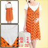 Maternity Pregnancy Orange Rhinestone Decor Short Sleeve Chiffon ...