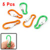5 x Gold Tone Green Spring Loaded Gate Aluminum Alloy Carabiner H...