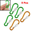 "5 x Hiking Spring Loaded Gate 2.4"" Long Carabiners Clip Hooks"