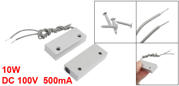 Screw Mount Security Garage Metal Door Magnet Contact Magnetic Switch