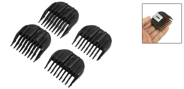 4 in 1 Black Plastic Hair Hairstyle Clipper Guider Combs