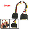 PC SATA 15 Pin Male to Female   Cable Converter