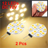 2pcs G4 Car 5050 SMD 12 LED Light Warm White Bulbs RV Boat Reading Home Lamp 12V