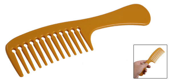Brown Orange Plastic Domestic Pet Hair Fur Cleaning Brushing Comb
