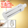 G24 8W AC 86-268V 72 SMD LED Warm White Energy Saving Lamp Bulb