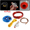 Auto Car Audio Fuse Holder 4 Pcs Cables Amplifier Wiring Wire Kit...
