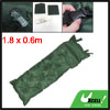 180 x 60cm Foldable Inflatable Olive Green Sleeping Mat Hiking Ca...