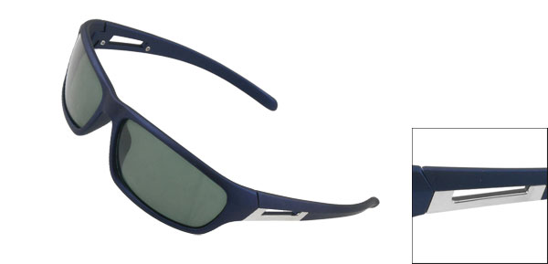 Men Rubberized Plastic Navy Blue Full Frame Outdoor Sunglasses