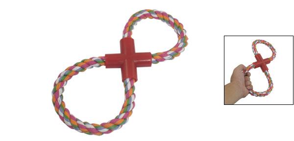 Figure 8-Shaped Pet Training Colorful Rope Dog Tug Fetch Toy