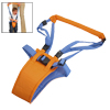 Comfortable Cotton Sponge Soft Baby Blue Orange Walking Belt w Harness
