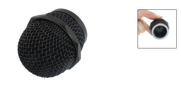 Microphone Mic Grille Ball Head Mesh Round Cartridge Replacement Black