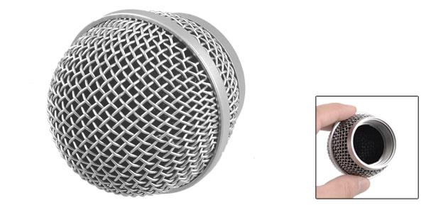 Silver Tone Dynamic Mic Microphone Cartridge Element Head PG48