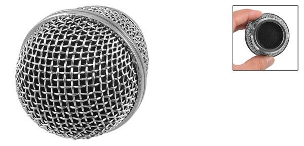 Silver Tone Alloy Plastic Acoustics Mic Microphone Cartridge Head