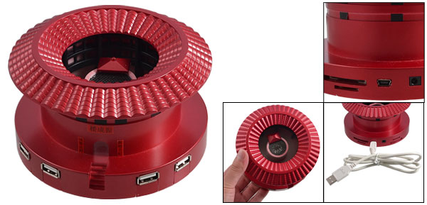 Hakka Earth Building Shaped 3.5mm Plug USB Hub Power Interface Speaker