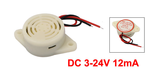 HND-3015B DC 3-24V 12mA Industrial Discontinuous Sound Electronic Buzzer