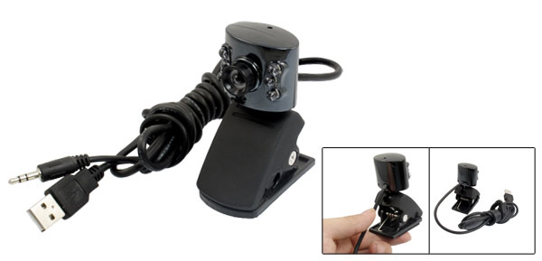 Mini USB Webcam Video Camera 6 LED Web Cam for Laptop Notebook Clip