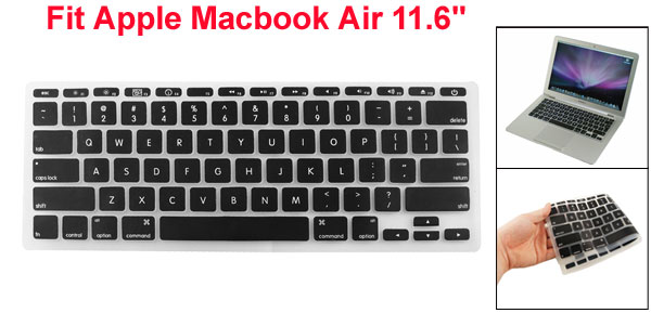 Black Silicone Keyboard Protective Cover for Apple Macbook Air 11.6